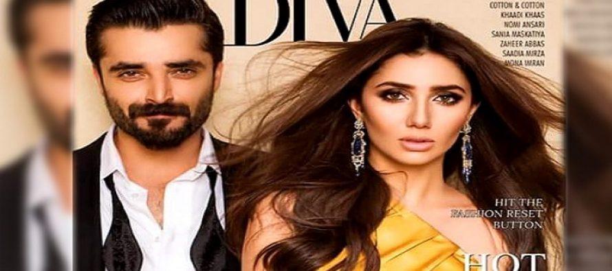 Diva Cover Lightens up with Mahira Khan & Hamza Ali Abbasi