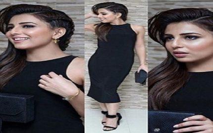 Ushna Shah in Black at the music launch of Teri Meri Love story
