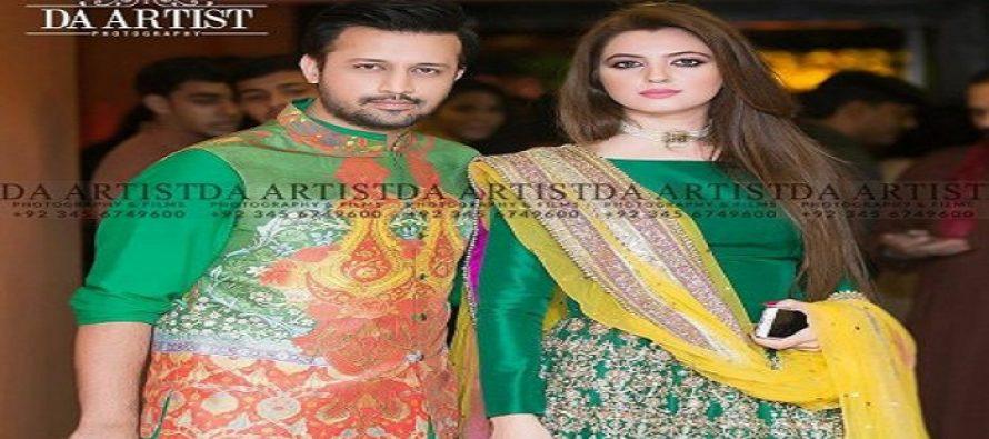 Atif Aslam with his Gorgeous wife Sara