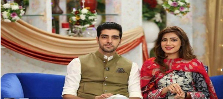 Model Sabrina Naqvi and Actor Furqan Qureshi at Sanam Baloch's Show