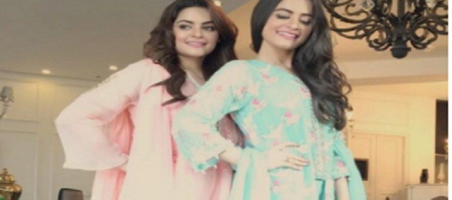 Aiman and Minaal Khan shoot for Agha Noor