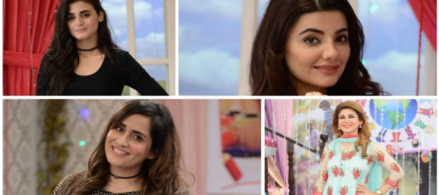 Four Pretty Ladies were invited in Today's GMP-Mishi Khan, Sabreen Baloch, Hira Mani and Zainab Jamil