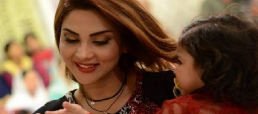 Fiza Ali with her Little Princess in Good Morning Pakistan