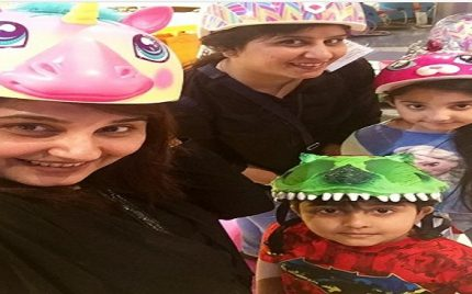 Pictures of Javeria Saud with her Kids in Dubai