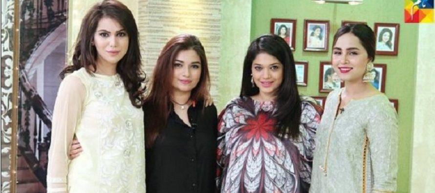 3 Beauties In Jago Pakistan Jago- Ghana Ali, Hanish Qureshi and Nimra Khan