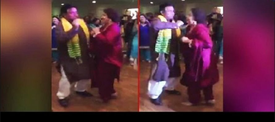 "Mr. & Mrs. General Pervaiz Musharraf Enjoying the Song ""Shakar Wandan Re"""