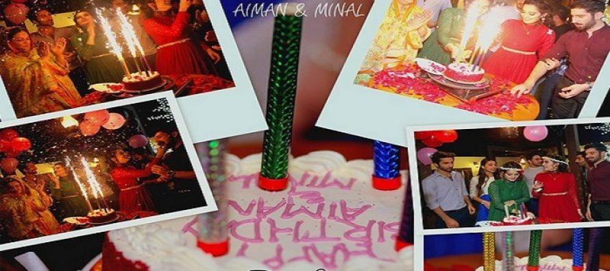 Aiman Khan and Minal Khan Celebrate their 18th Birthday