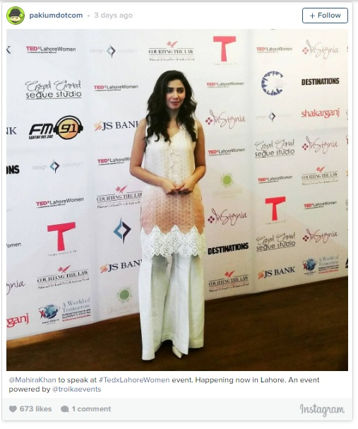 "Mahira Khan Speaks about ""Bullying""at TEDx Lahore Women"