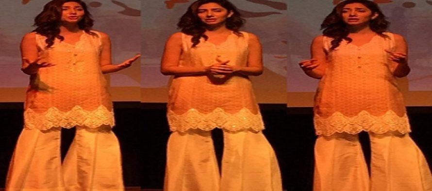 "Mahira Khan Speaks about ""Bullying""at TEDx Lahore Women"