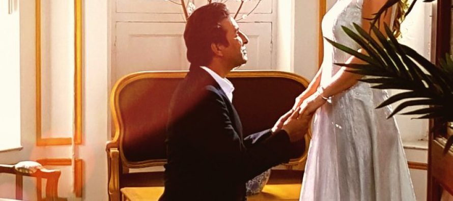 Wasim Akram and Shaniera Akram in a music video