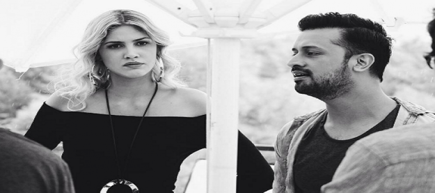 Atif Aslam collaborates with a Brazilian model for an upcoming music video