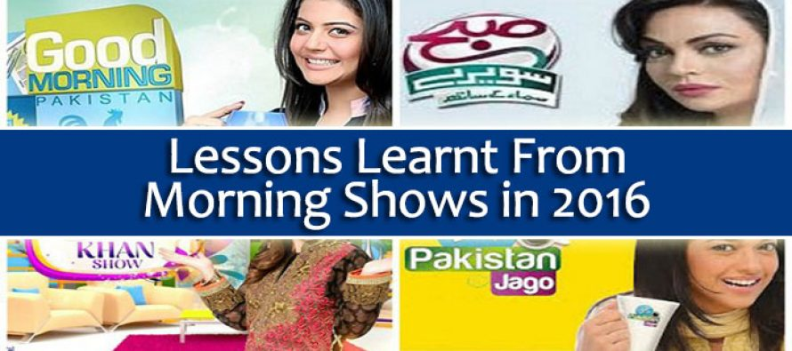 Lessons Learnt From Morning Shows in 2016