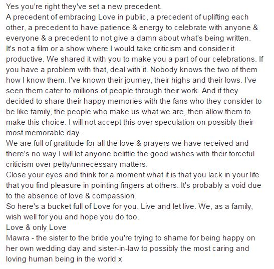 Mawra Hocane speaks for her sister Urwa!