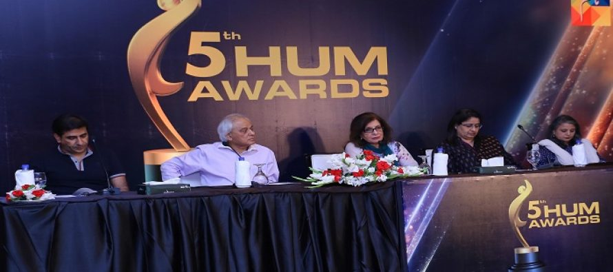 Hum Awards 2017 – Press Release