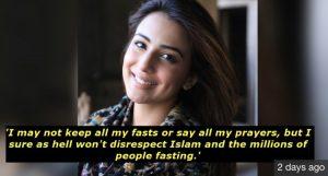Ushna Shah Speaks Up About Ramzan Transmissions