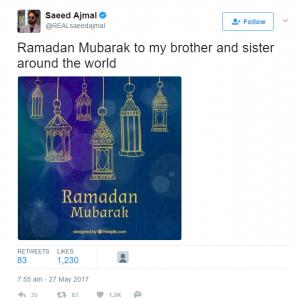 Twitter- Spreading the greetings of Ramadan