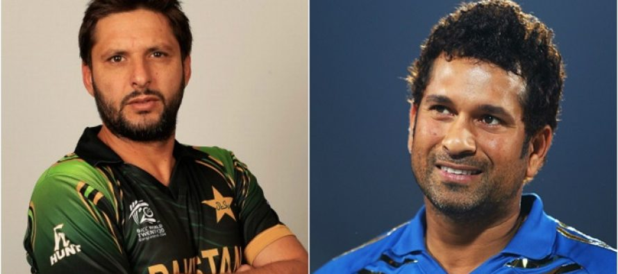 Here's What Sachin Tendulkar Has to Say About Shahid Afridi!