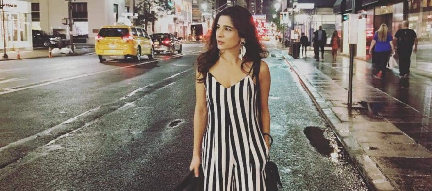 "Ayesha Omar posts on Instagram as she lands in New York for ""Yalghaar"" promotion"