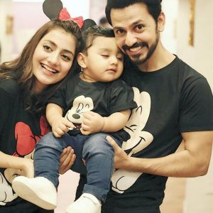 Bilal and Uroosa celebrate Sohaan's first birthday.