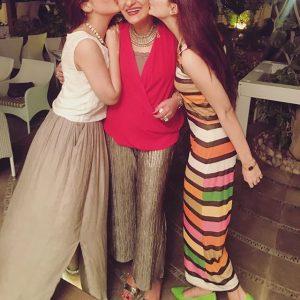 Hocane sisters at Saba Hameed's birthday