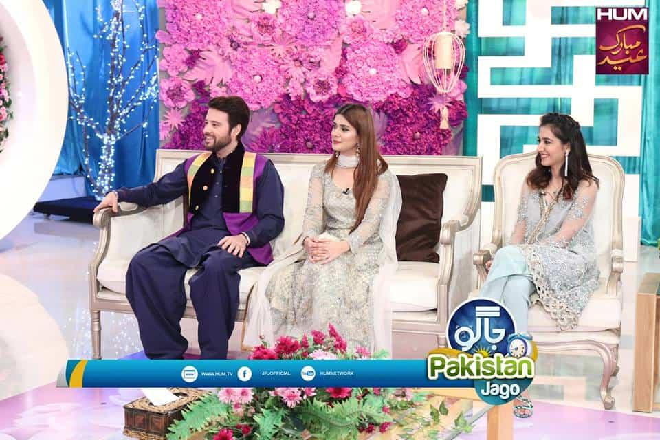 """Cast of Alif, Allah Aur Insaan at """"Jago Pakistan Jago"""""""