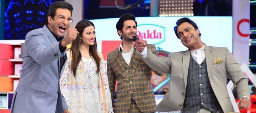 Danish Taimoor and Sana Javed in Geo Khelo Pakistan