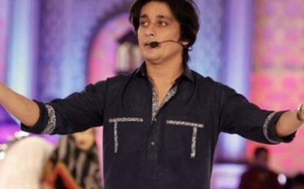 Sahir Lodhi plays catch catch on set
