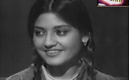 Nazia Hassan's first interview.. the most innocent one you will ever see.