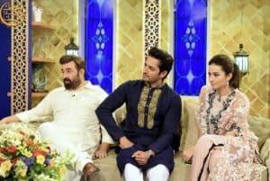 Team Mehrunnisa v lub you in Aaj Tv Iftar Show