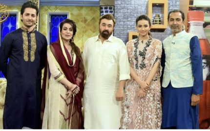 Team Mehrunnisa v lub you in Aaj Tv Iftar Show