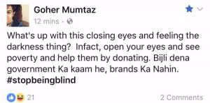 Gohar Mumtaz strikes on Pepsi's campaign!
