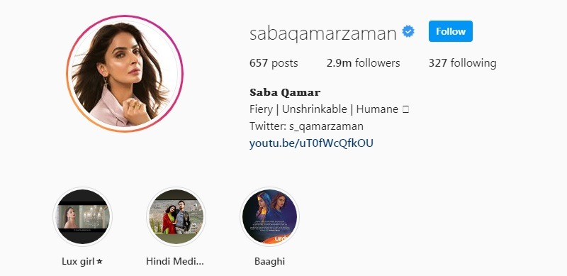 Saba Qamar - Complete Information - Age, Instagram, Family