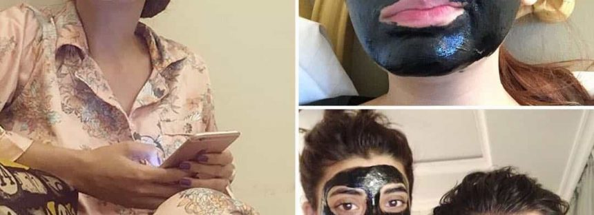 Celebrities Spotted With Tinted Faces
