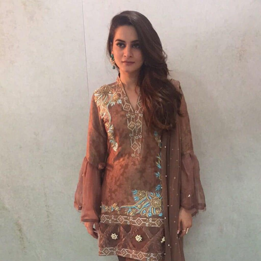Aiman And Minal Posses For Phatyma Khan's Festive Collection