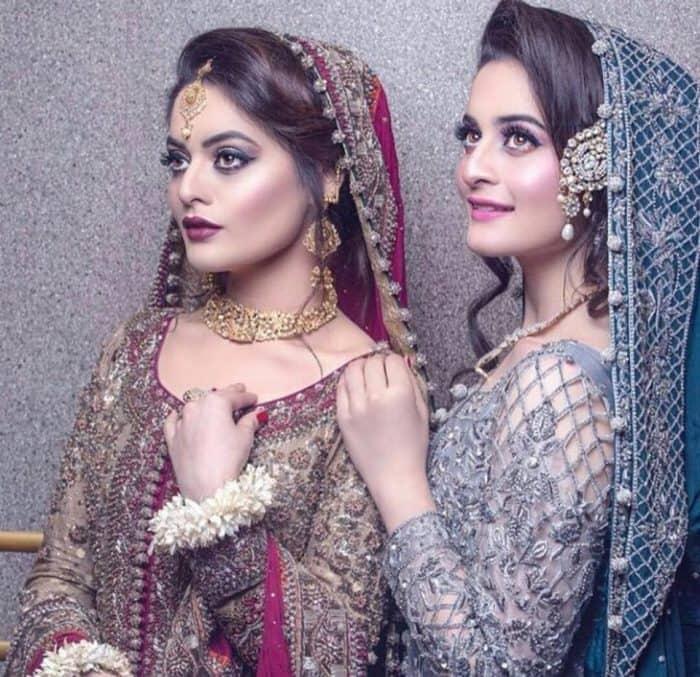 Aiman Minal Latest Bridal Shoot 2017 Lehnga Embroidered Chiffon Latest Pakistan Fashion Style Trend Trending 3