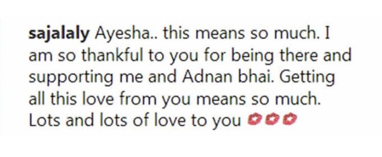 Ayesha Omar Showers Praises On Sajal Aly And Adnan Siddiqui