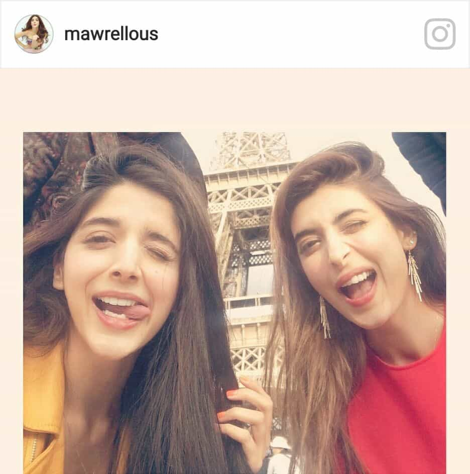 The Second Post Is That Of Our Charming Mawra Hocane Who Just Uploaded A Hilarious On Instagram For Her Sisters Birthday Urwa Turned 26