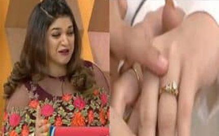Sanam's Response On Aiman's Engagement Ring!