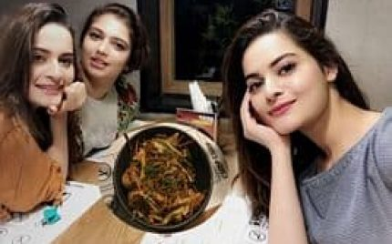 Aiman Khan, Hanish Qureshi and Minal Khan Spotted in a Restaurant