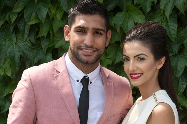 Amir Khan and wife Faryal
