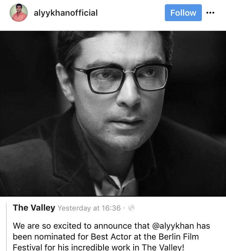Alyy Khan Nominated For Best Actor