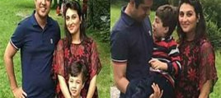 Iqrar ul Hassan with Family In UK