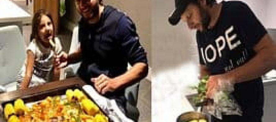 Shahid Afridi Cooking for his Daughter!