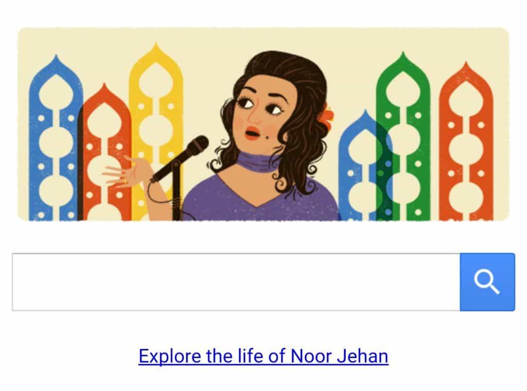 Madam Noor Jehan Honored By Google!