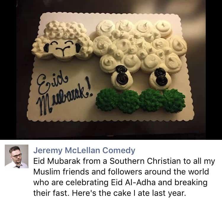 Jeremy Mclellan Wishes Muslims A Happy Eid