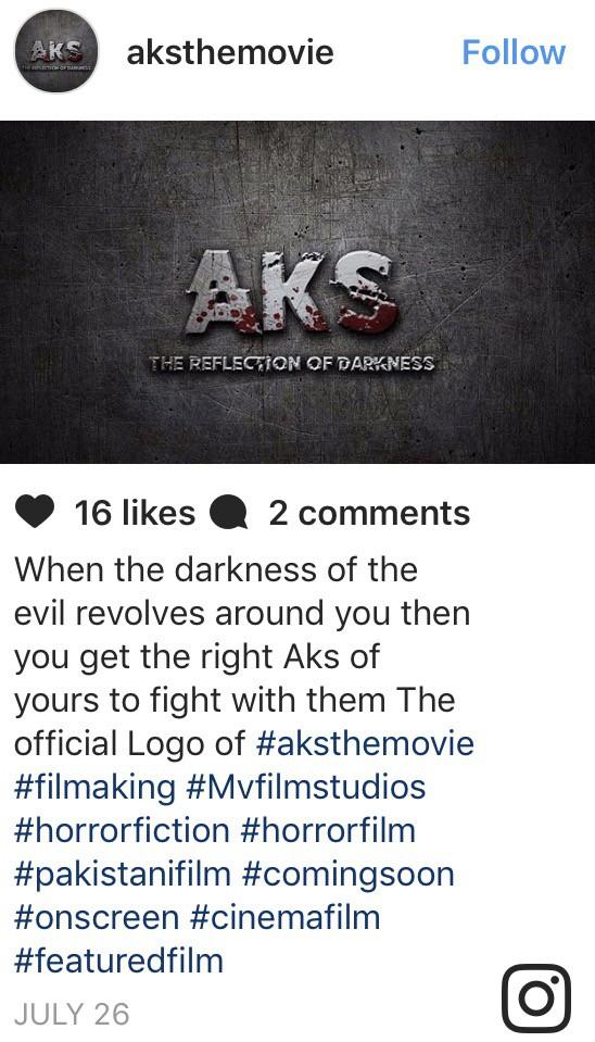"""Pakistani Horror Film """"Aks"""" Releasing In December"""