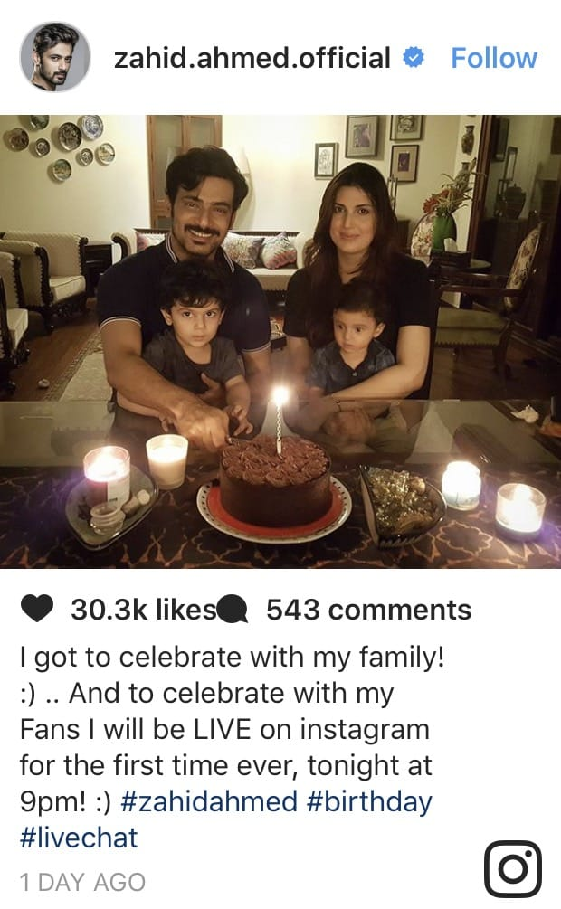 Fans Catch Up With Zahid Ahmed On His Birthday