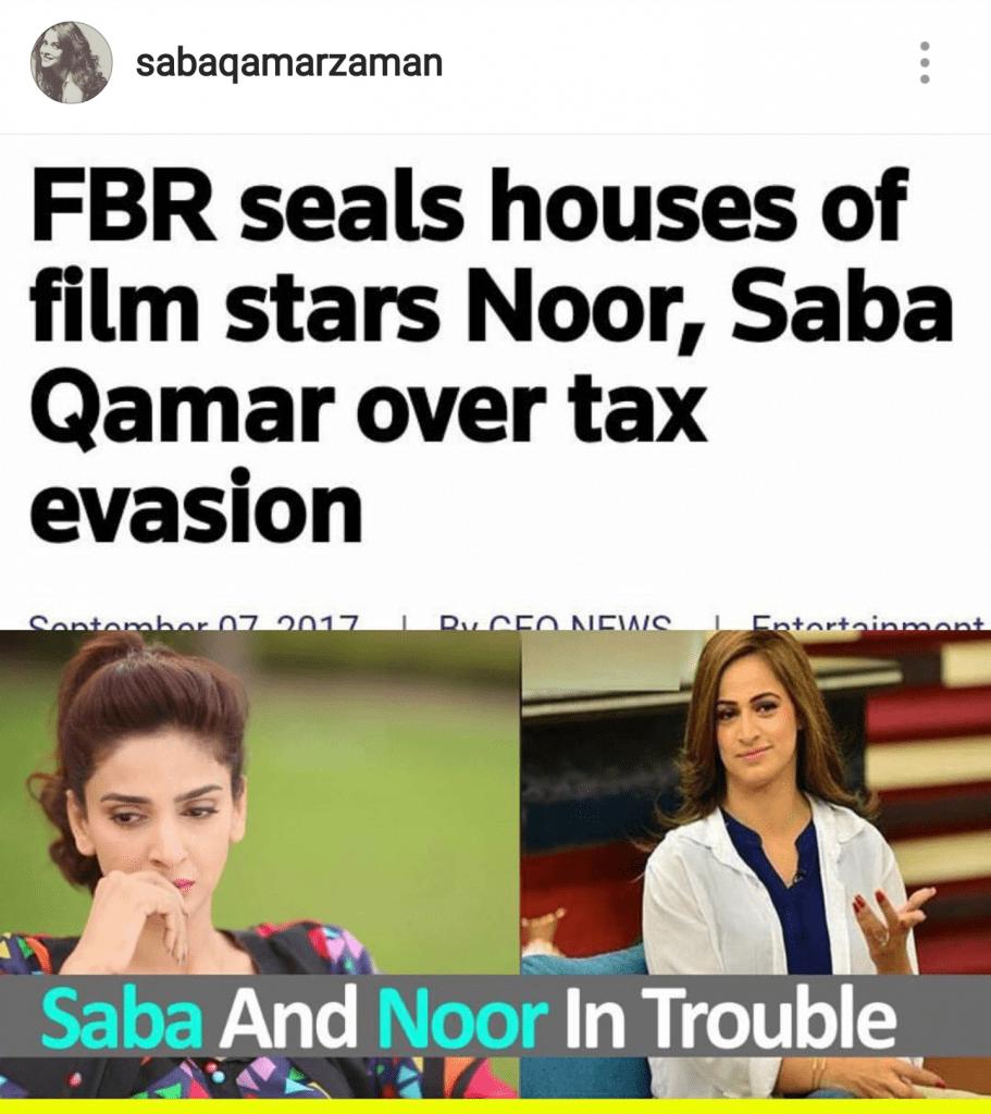 Saba Qamar Slams Tax Evasion Accusations!