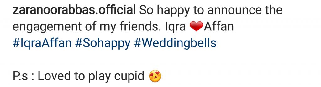 Iqra Aziz And Affan Waheed Engaged?
