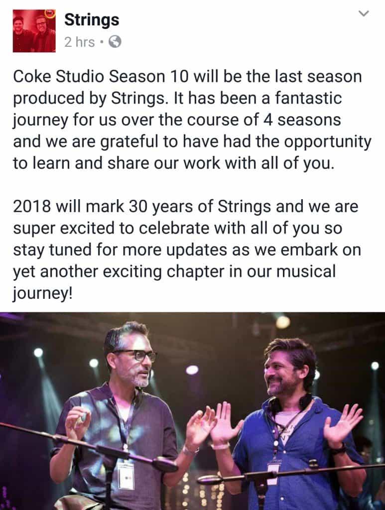 Strings Bid Good Bye To Coke Studio!